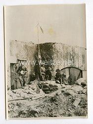 III. Reich Pressefoto. Weisse Fahne über einem Maginot-Bunker. 23.6.1940.