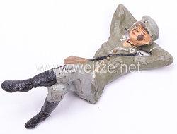 Lineol - Heer Lagerleben - Soldat auf dem Rücken liegend