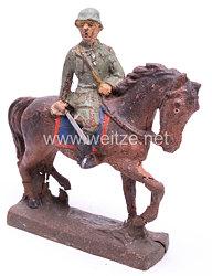 Elastolin - Heer Offizier mit gezogenem Säbel auf Schrittpferd