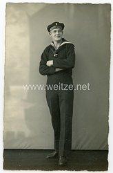 Reichsmarine Foto, Angehöriger des Schulschiff Deutschland