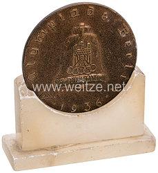 XI. Olympischen Spiele 1936 Berlin - bronzene Teilnehmermedaille zur Rad-Stern-Fahrt