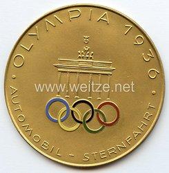 XI. Olympischen Spiele 1936 Berlin - goldene Siegerplakette für Teilnehmer an der Automobil-Sternfahrt Olympia 1936