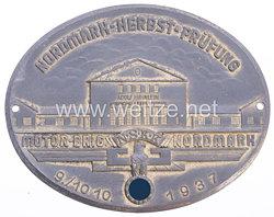 """NSKK - Nichttragbare Teilnehmerplakette """" Motor-Brig. Nordmark - Nordmark-Herbst-Prüfung 9./10.10.1937 """""""