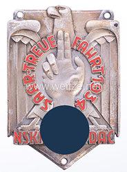 """Nichttragbare Teilnehmerplakette: """"NSKK / Saar-Treuefahrt 1934"""""""