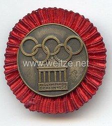 XI. Olympischen Spiele 1936 Berlin - Teilnehmer-Plaketten für das Internationale Studenten- und Jugendlager - für das Lager der Fachämter in der 2. Woche