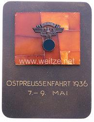 "NSKK - nichttragbare Teilnehmerplakette - "" NSKK Ostpreussenfahrt 1936 7.-9. Mai """