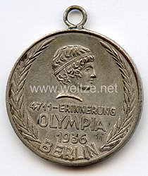 XI. Olympischen Spiele 1936 Berlin - Erinnerungsmedaille der Firma 4711 in Köln Glockengasse