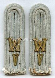 Wehrmacht Paar Schulterstücke für einen Leutnant, Wehrersatz -Dienstelle im Wehrkreis V