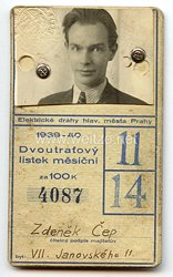III. Reich - Tschechoslowakei - Elektrizitätsunternehmungen der Hauptstadt Prag - Schülerkarte 1939-40