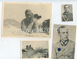 Wehrmacht Heer Fotokonvolut, Ritterkreuzträger Leutnant Helmut Gruber II. Panzergrenadier-Regiment 125