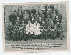 Luftwaffe Gruppenfoto, Oranienburger Gasschutzlehrgang bei der Degea A.-G. (Auergesellschaft)