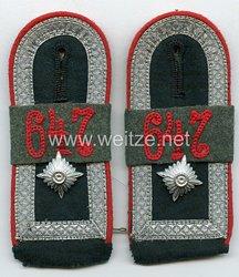Wehrmacht Heer Paar Schulterklappen für einen Feldwebel im Artillerie Rgt. 647