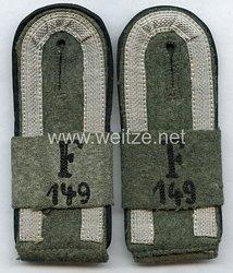 Wehrmacht Heer Paar Schulterklappen für einen Unteroffizier Festungs-Pionier-Bataillon 149