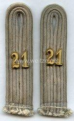 Wehrmacht Paar Schulterstücke für einen Oberleutnant im Infanterie-Regiment Nr. 21