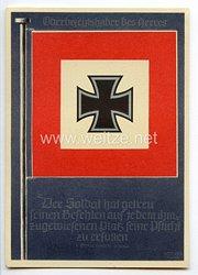 """III. Reich - farbige Propaganda-Postkarte """" Die siegreichen Fahnen und Standarten der deutschen Wehrmacht """" - Karte 3"""