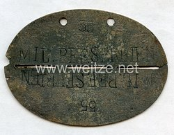 """Wehrmacht Heer Erkennungsmarke """" MIL.BEF.SERBIEN 22 """" - Militär-Befehlshaber Serbien"""