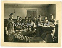 Wehrmacht Heer Foto, die Soldaten einer Schlachter - Kompanie