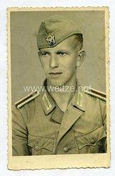 Polizei III. Reich Portraitfoto, Oberwachtmeister mit Schiffchen