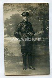 Erster Weltkrieg Fotopostkarte eines Kraftfahrers