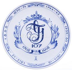 """Meissen-Regimentsteller Königreich Sachsen """"Kgl. Sächs. 8. Infanterie-Regiment Prinz Johann Georg Nr.107"""""""