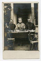 Erster Weltkrieg Fotopostkarte Russische Telegraphisten