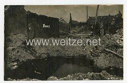 Erster Weltkrieg Fotopostkarte zerstörtes Dorf von Boiry Notre Dame bei Arras Juni 1917