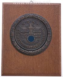 """NSKK - nichttragbarer Ehrenschild """" Südwestorientierungsfahrt 4.4.1937 Motor-Brigade Südwest """""""