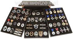 2. Weltkrieg: Großer Ordensmusterkoffer eines Handelsvertreters aus Lüdenscheid