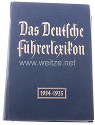 III. Reich - Das Deutsche Führerlexikon 1934/1935( 1700 Biographien )