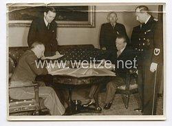 III. Reich Pressefoto. Unterzeichnung des deutsche-italienischen Wirtschaftsvertrages im Auswärtigen Amt in Berlin. 20.5.1939.