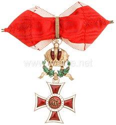 K. u. K. Monarchie Österreich Leopoldorden Kommandeurkreuz mit Kriegsdekoration