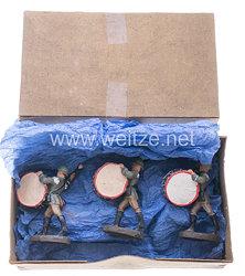 Elastolin - Heer Pauker marschierend - 6 Stück in der originalen Verpackung