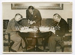 III. Reich Pressefoto. Unterzeichnung des Nichtangriffsvertrages Deutscheland-Dänemark. 31.5.1939.