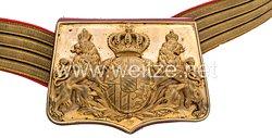 Bayern Kartuschkasten und Paradebandolier für Offiziere der Feldartillerie