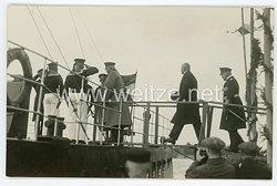 Weimarer Republik Foto, Reichspräsident Hindenburg besucht ein Kriegsschiff