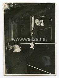 III. Reich Pressefoto. Minister Pirow aus Berlin abgereist. 27.11.1938.