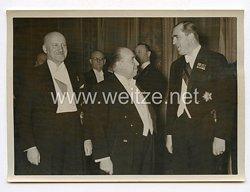 III. Reich Pressefoto. Empfang für Hollands Wirtschaftsminister. 10.3.1939.
