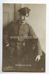 "Fliegerei 1. Weltkrieg - Fotopostkarte  - Deutsche Fliegerhelden "" Oberleutnant Gerlich """
