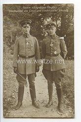 """Fliegerei 1. Weltkrieg - Fotopostkarte  - Deutsche Fliegerhelden """" Oberleutnant von Cossel und Vizefeldwebel Windisch """""""