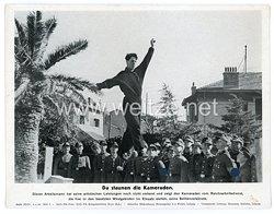 """III. Reich - gedrucktes Pressefoto """" Da staunen die Kameraden """" 4.4.1944"""