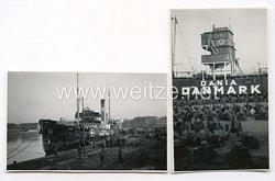Fotos Kriegsmarine Transportschiff Dania Danmark am Kai, 25 mai 1940