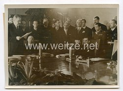 III. Reich Pressefoto. Staatsakt in der neuen Reichskanzlei. 25.11.1941.