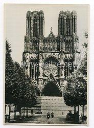III. Reich Pressefoto. Die Kathedrale von Reims. 6.7.1940.