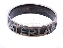 1. Weltkrieg patriotischer Fingerring für Spender von goldenen Eheringen