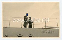 III. Reich Foto, Adolf Hitler auf der Staats-Yacht Grille