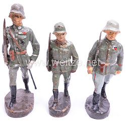 Elastolin - Heer 3 Offiziere marschierend
