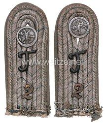 Bayern Paar Schulterstücke für einen Leutnant im 2. Telegraphen-Bataillon