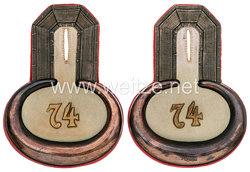Preußen Paar Epauletten für einen Leutnant im 1. Hannoverschen Infanterie-Regiment Nr. 74