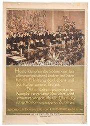 III. Reich - farbiges Propagandaplakat -