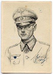 Heer - Originalunterschrift von Ritterkreuzträger Oberleutnant Gotthard Eßbach